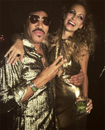 Nicole Richie 35th Birthday Party: House of Harlow X Revolve Ali Sequin Maxi Dress