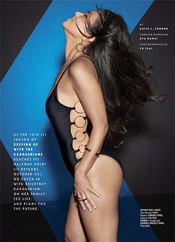 Kourtney Kardashian Cosmopolitan October 2016: Nasty Gal Ring True Cutout Swimsuit