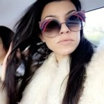 Kourtney Kardashian Fendi Hypnoshine Sunglasses (Instagram December 26, 2016)