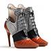 Dior Cognac Ankle Boots