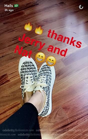 Hailey Baldwin in Vans Era 95 Fear of God (Snapchat October 2016)