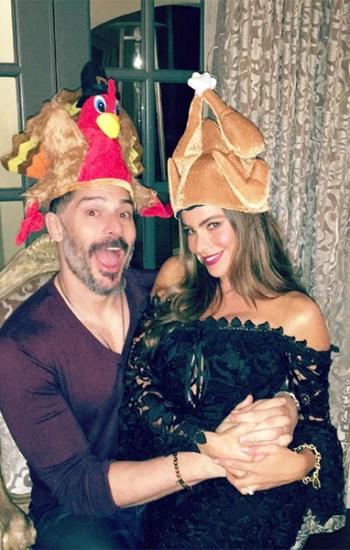 Sofia Vergara in Nicholas Botanical Lace Cocktail Dress on Thanksgiving — Instagram November 25, 2016
