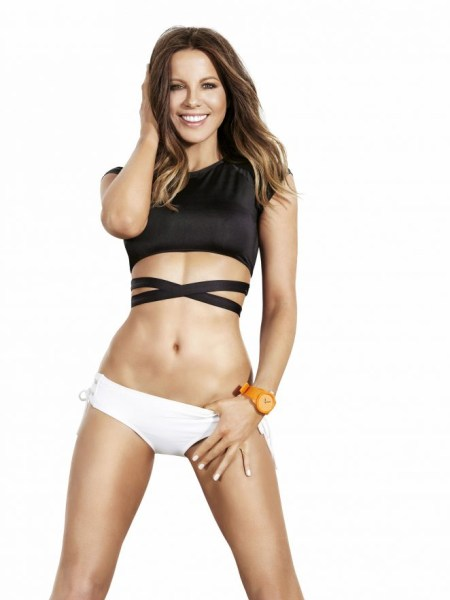 Kate Beckinsale in L*Space Bowie Wrap Swim Top for Shape Magazine January 2017 Issue