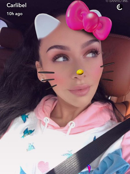 Carli Bybel, Lazy Oaf X Disney Cinderella Castle Hoodie (Snapchat, Feb 14 2017)