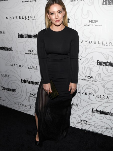 Hilary Duff in Haney Josephine Long Dress at Entertainment Weekly Celebrates the SAG Award Nominees event (Jan 28 2017)