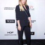 Hilary Duff in Tibi blazer and pants at Harper's Bazaar 150 Most Fashionable Women (Jan 27 2017)