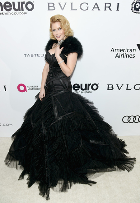 Renee Olstead in Matthew Christopher at 25th Annual Elton John AIDS Foundation Oscar Viewing Party