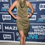 Ariana Madix in Elliatt Camo Blouson Halter Dress on Watch What Happens Live with Andy Cohen - Jan 16, 2017