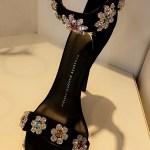 Faryal Makhdoom, Giuseppe Zanotti Design Crystal Embellished Stiletto Sandals (Snapchat March 2017)