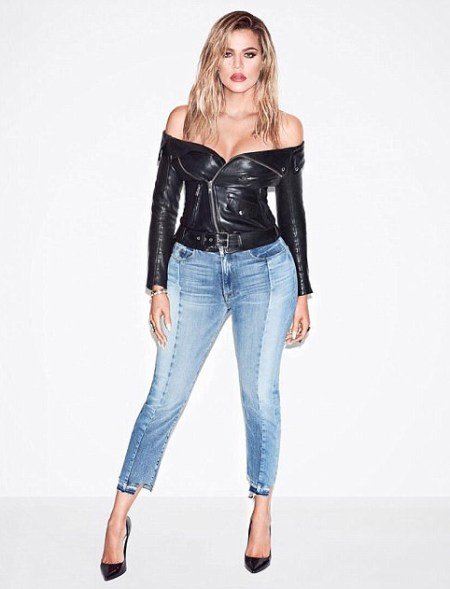 Khloe Kardashian Good American Campaign 2017 Good Mix Jeans in Blue078