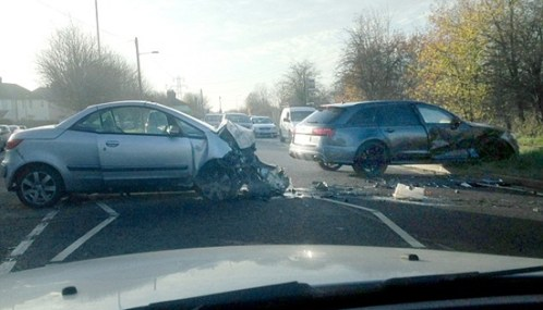 David Beckham Car Crash 2014 Picture