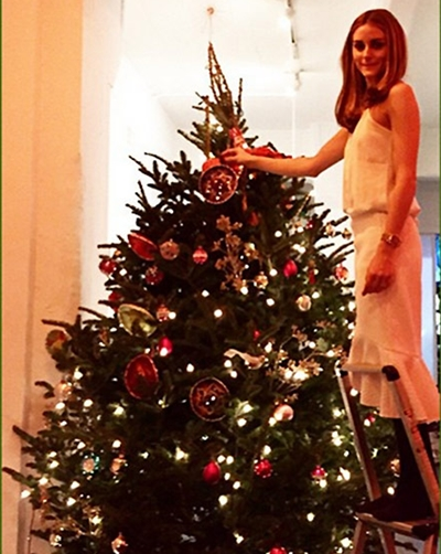 Olivia Palermo Christmas Tree 2014Olivia Palermo Christmas Tree 2014