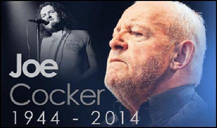 Singer Joe Cocker Died on December 22, 2014