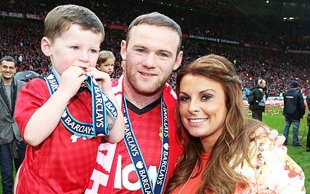 Wayne Rooney Wife and Son