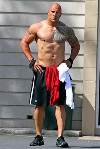 """Dwayne """"The Rock"""" Johnson Body Measurements"""