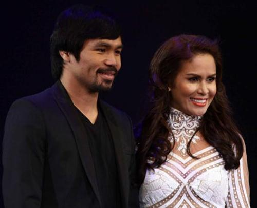 Manny Pacquiao with Wife