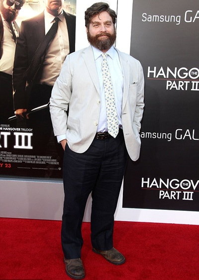 Zach Galifianakis Height Weight Body Shape