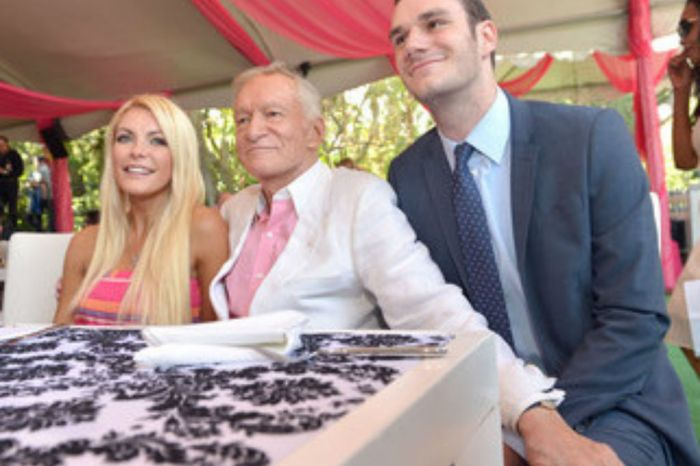 Hugh Hefner's Son Cooper And Wife  Crystal Harris Pay Tribute To Playboy Icon On Anniversary Of His Death
