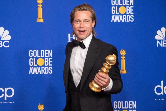 Brad Pitt Wins Best Supporting Actor Golden Globe As Jennifer Aniston Looks On — Watch Video