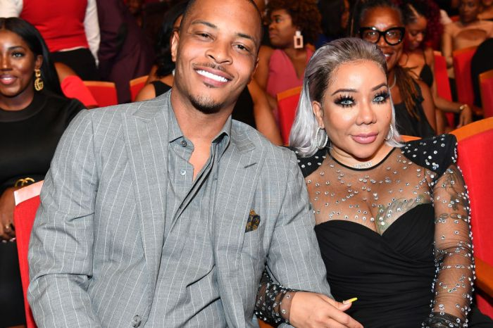 T.I. And Tiny Harris Match In Nipsey Blue Outfits And They Look Amazing At An Important Event
