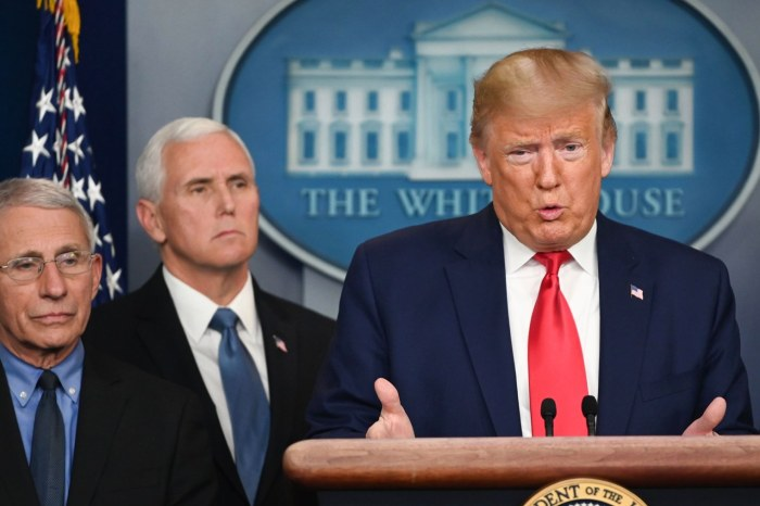 Donald Trump Is Slammed For Promoting Unproven Cocktail Of Drugs -- Hydroxychloroquine And Azithromycin -- As Cure For The Coronavirus; Top Infectious Disease Expert Reacts