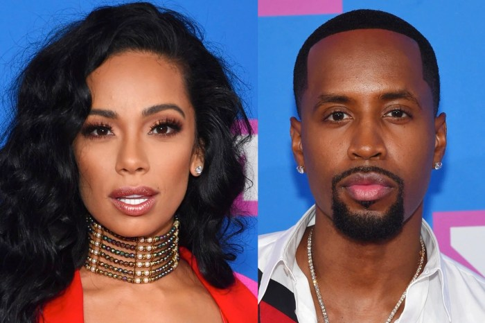 Safaree Celebrates His First Anniversary With Erica Mena - See His 'Dry' Message