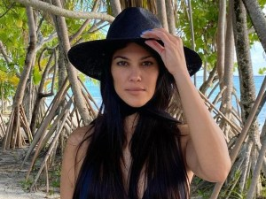 Kourtney Kardashian Flaunts Her Flawless Figure In Seven Swim Two-Piece Bathing Suit — See The Look