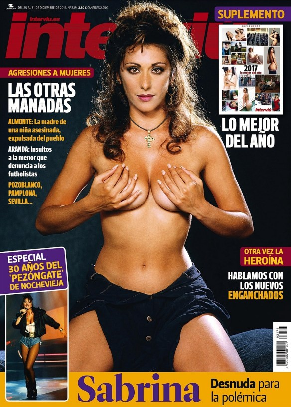 Disco Star Sabrina Salerno Topless Photo Shoot for Interviú Magazine