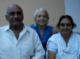 Christine with Ravishankar & Krishna.