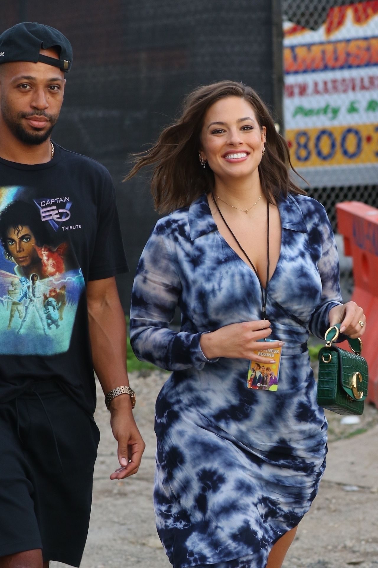 Ashley Graham-Arriving at a Concert in NYC