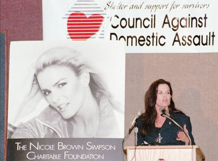Denise Brown, Nicole Brown Simpson, Council Against Domestic Abuse, 1995