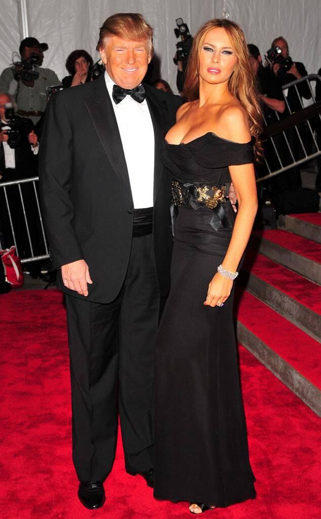 Donald Trump, Melania Trump, 2009 MET Gala