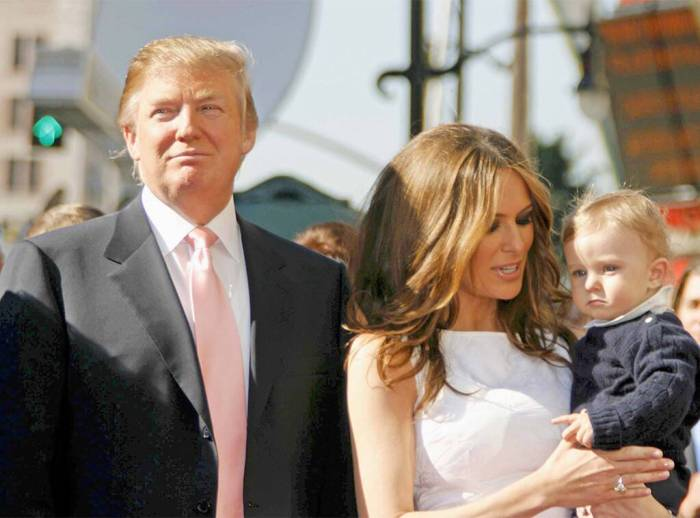 Donald Trump, Melania Trump, Barron Trump, 2008