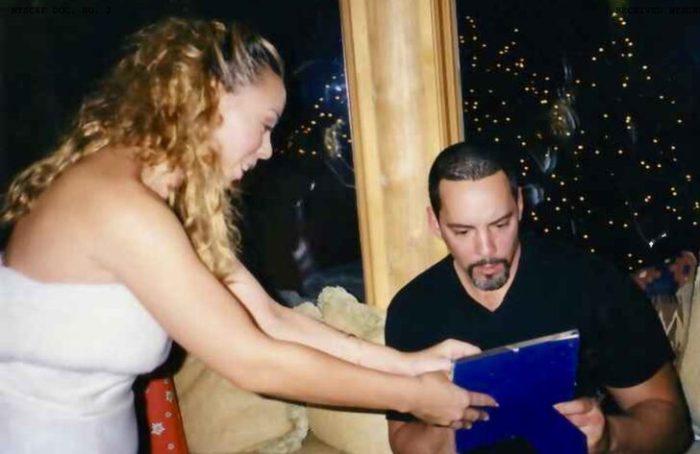 Mariah Carey With Her Brother Morgan