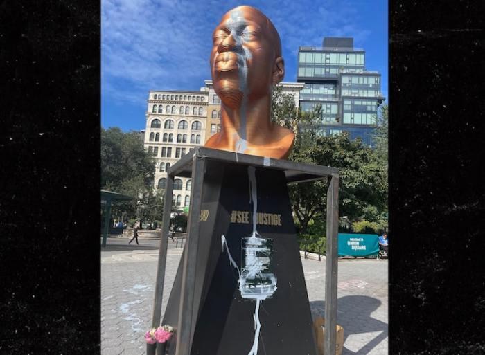 george floyd statue vandalized