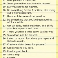 50 Ways to Take Care of Yourself