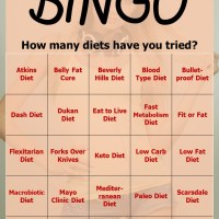 Diet Bingo Card