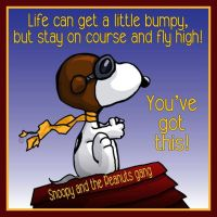 Snoopy Says: Fly High!