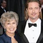 Brad pitt and his mother Jane Etta Pitt image.