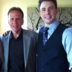 Chris Evans with his father Bob