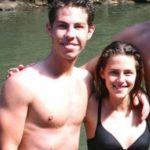 Kristen Stewart with her adopted brother Dana Stewart