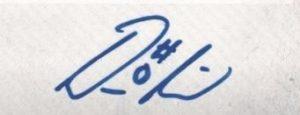 Damian Lillard signature