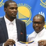 Kevin Durant with his father Wayne Pratt