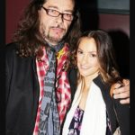 Minka kelly with her Rockstar father Rick Dufay