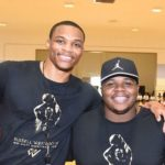 Russell Westbrook with his brother Raynard Westbrook