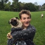 jack gleeson and his pet dog