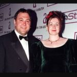 mark Addy with his wife Kelly Johnson