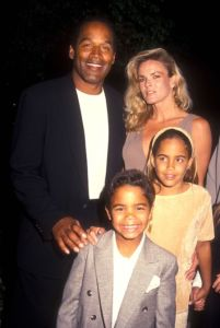 O.J. Simpson with his Family