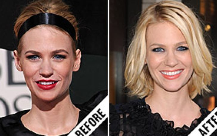 January Jones Smiles Looks Attractive Because of Her Fake Teeth?- Grab Facts Here