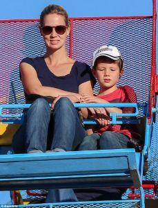 January Jones with her son Xander Jones